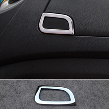 For Chevrolet Trax 2014 2015 2016 stainless steel Car handle Glove co-pilot Container switch Storage box cover inner trim lsrtw2017 stainless steel car co pilot storage box switch handle trims for kia kx cross k2 rio 2017 2018 2019 2020