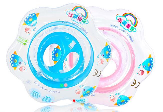 1pcs Round Shaped PVC Seat Swimming Ring Cute Kids Baby Inflatable Swimming laps Pool Swim Ring