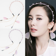 fashion diamond tassel Headband fabric girls hair head hoop