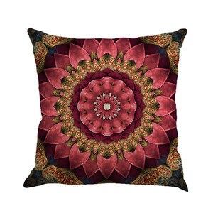 Image 3 - Разноцветная льняная наволочка с геометрическим рисунком 45 см * 45 см, удобная диванная квадратная наволочка для подушки, украшение для дома