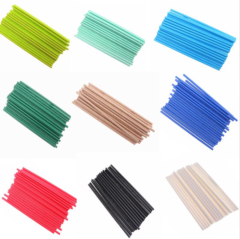 25Pcs Disposable Pure Color Blue White  Pink Creative Wedding Supplies Birthday Event Party Decorating Beverage Paper Straw