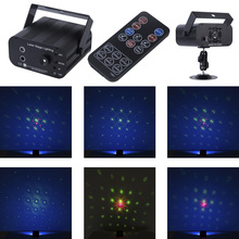 цена Premium Remote 48 Patterns 3 Lens RGB Laser Projector Stage Lighting Effect Disco Club Xmas Party Holiday Show Light With 12W онлайн в 2017 году