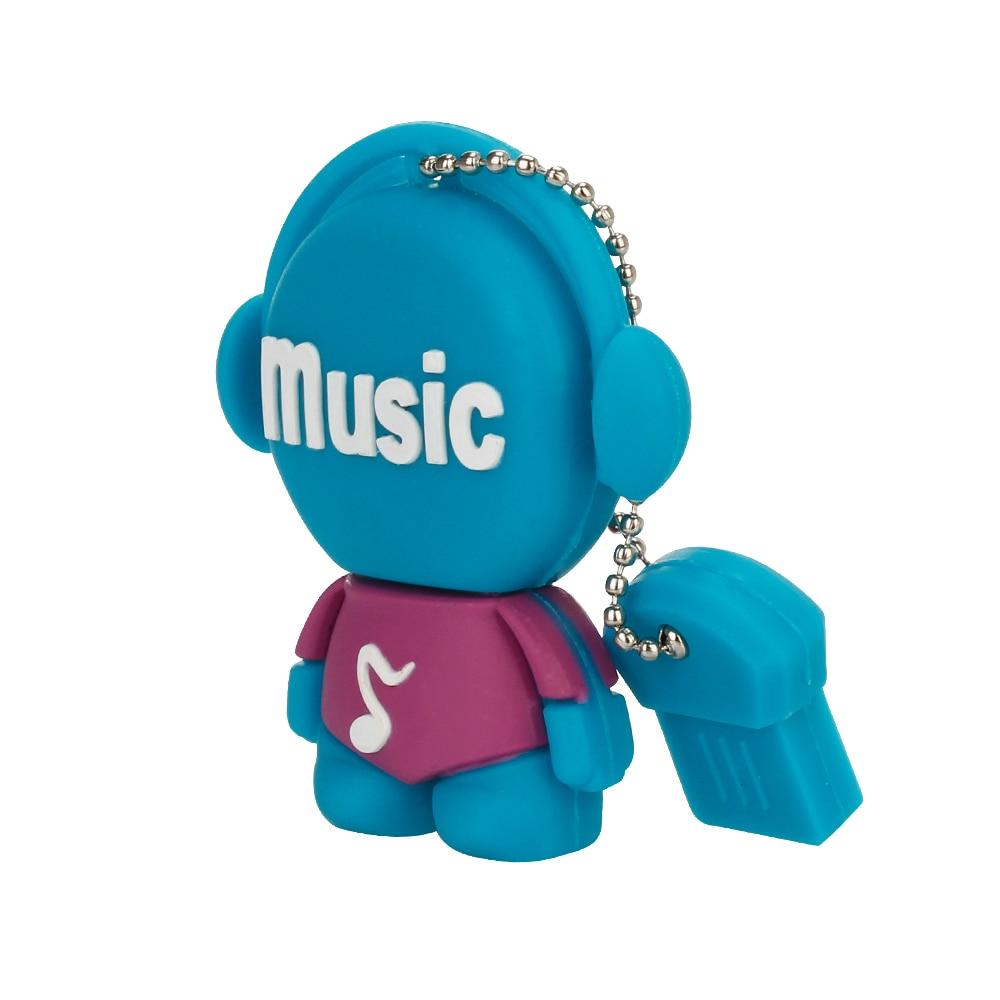 Usb Flash Drive 4G 8GB 16GB Music Robot Pen Drive 32GB 64GB Pendrive 128GB USB3.0 High Speed Usb Stick Thumbdrives Free Shipping (3)
