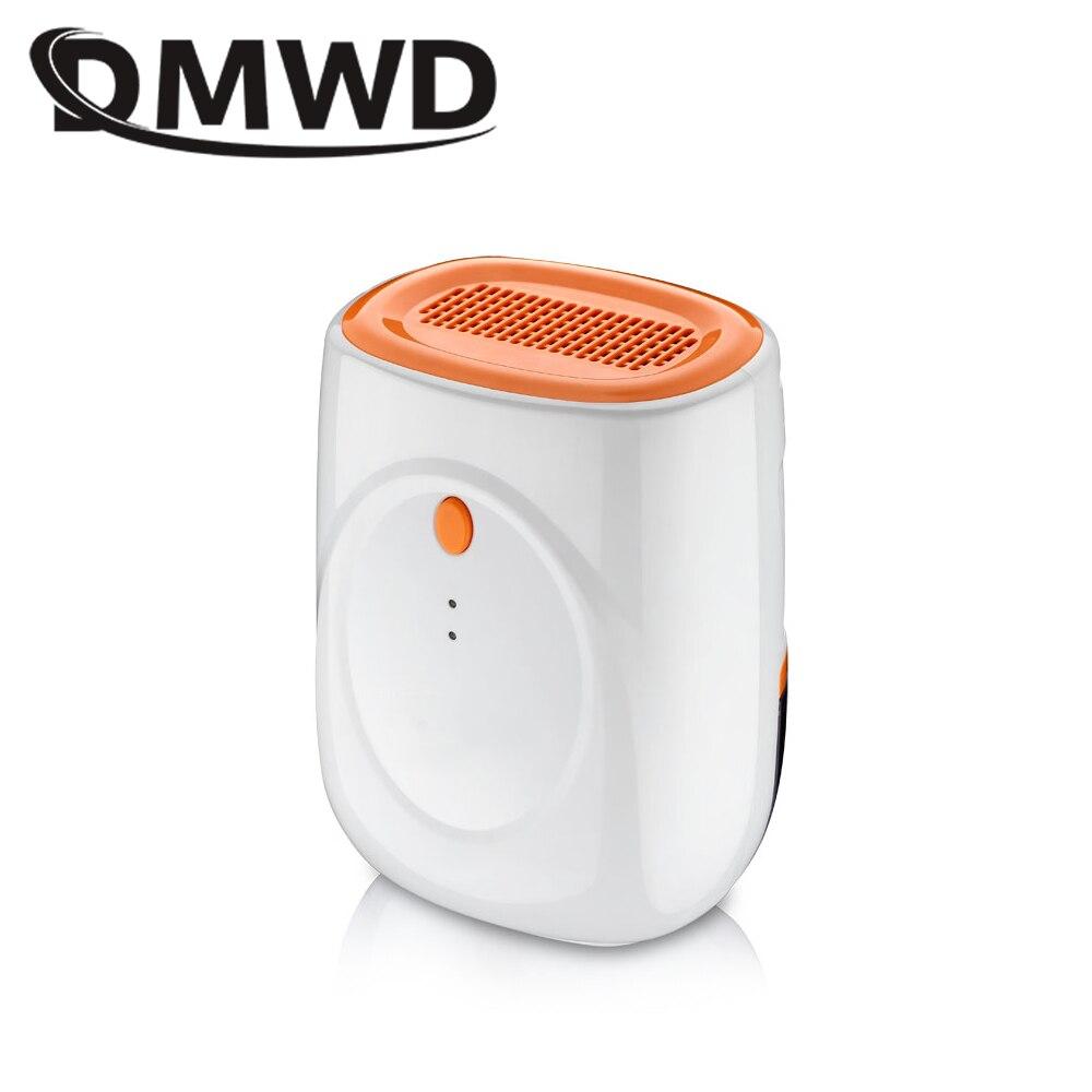 DMWD Electric Mini Air Dehumidifier Ultra-quiet 500ml Air Dryer Intelligent Moisture Absorbing Machine Wardrobe Bookcase EU US