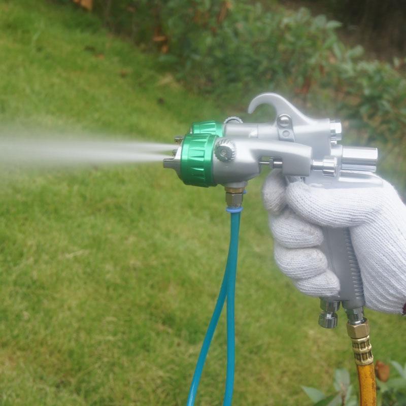 SAT1189 verfgereedschap hoogwaardige dubbele sproeierset spray op chromen hvlp luchtspuitschuim