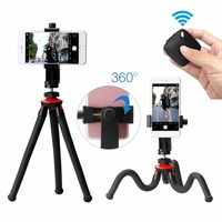 Ulanzi Phone Flexible Tripod With Bluetooth Shutter Remote Portrait Landscape Mount Adapter Livestream Video For IPhone