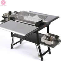 BBQ Grills Outdoor Folding Multi purpose Charcoal Barbecue Grill 5 7 Person Camping Roasting Kebab Large Folded Grill Stove