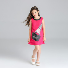 Girls Summer Dresses 2018 Children A-line Dress Baby Cute Princess For Party Kids Print Birthday