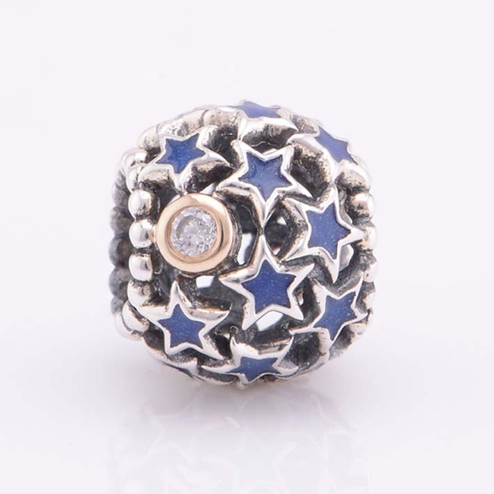951b909f7 ... clearance blue enamel star authentic 925 sterling silver beads fits pandora  charms bracelet diy making in