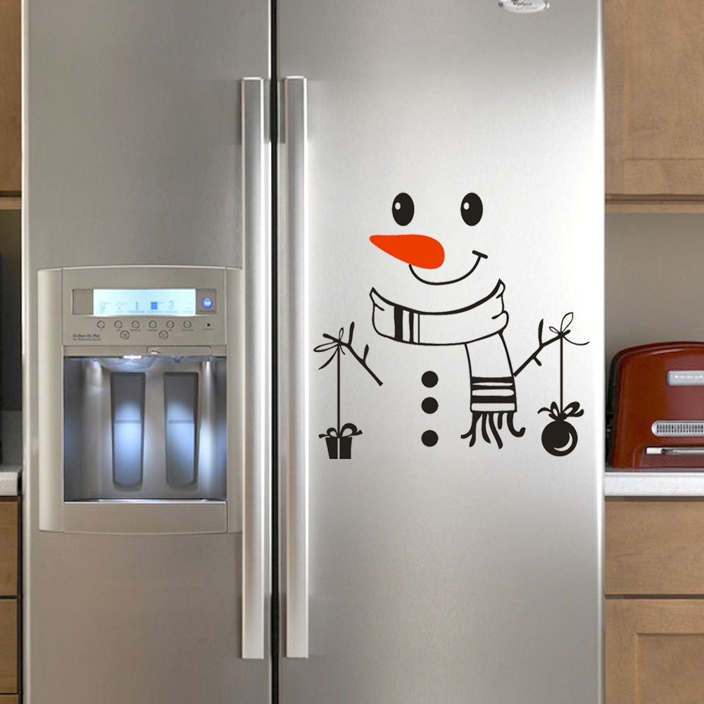 42 Fridge Us 1 22 42 Off 2019 New Merry Christmas Fridge Stickers Good Morning Cute Happy Delicious Kitchen Fridge Wall Stickers Art Decoration Black 35 In
