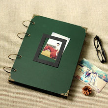 36*26CM 76P Large dark green Horizontal & Vertical photo album DIY for cardboard for scrapbooking album frames 300-400 sheets