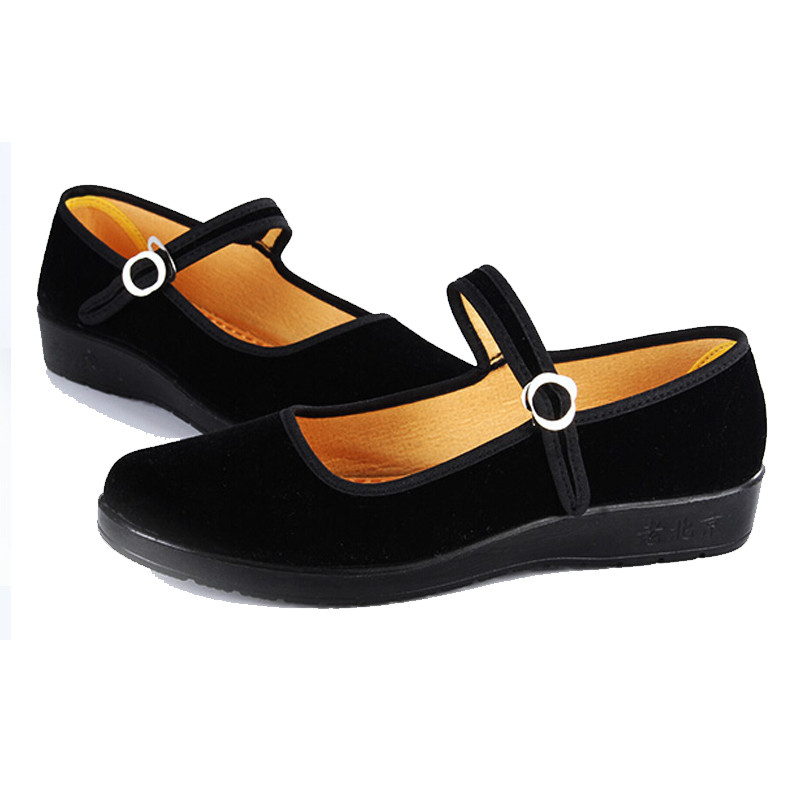 Dance Flats Ladies Chinese Mary Jane Black Shoes Old ...