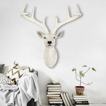 Head Hanging Wall Decoration Home Furnishing Deer Home Decor Decorative Mural Bar Retro Resin Storage Holders