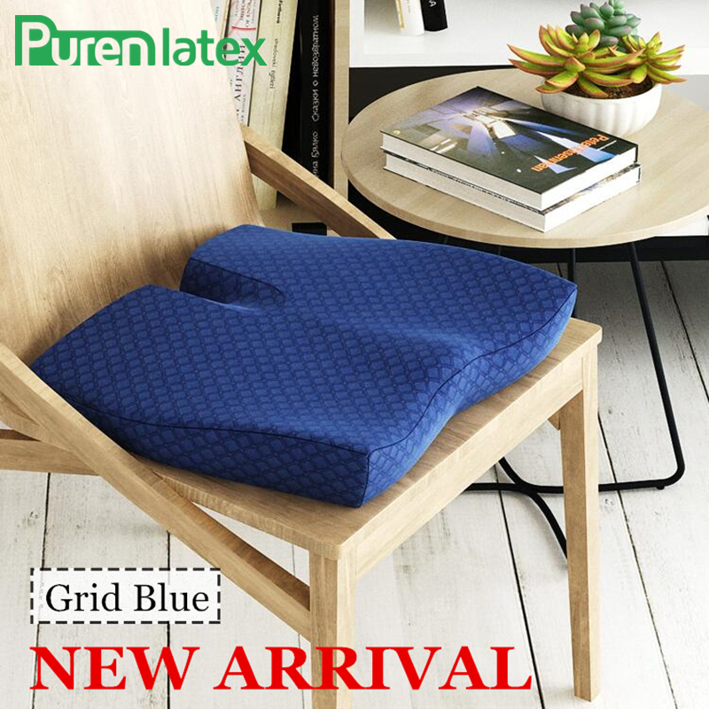 PurenLatex New Butterfly Slow Rebound Memory Foam Office Chair Shape Hips Pillow Seat Cushion Pad Lumbar Coccyx Protect Soft Mat