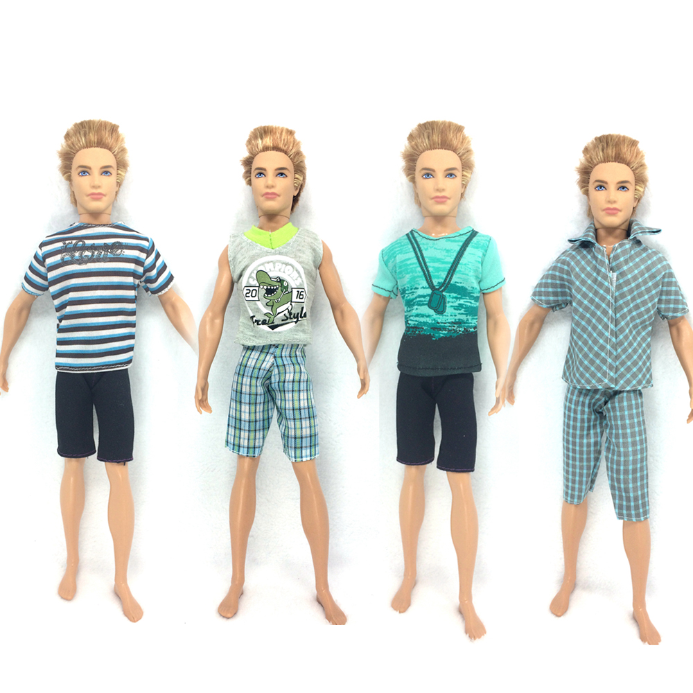 NK  2018  Prince Ken Doll Clothes Fashion Suit Cool Outfit For Barbie Boy KEN Doll Best Children's Birthday Presents Gift 30 new styles festival gifts top trousers lifestyle suit casual clothes trousers for barbie doll 1 6 bbi00636