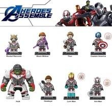 Avengers 4 EndGame Space Micro Minifigured Iron Man Hulk Playmobil Building Blocks Action Figure Children Toys Compatible Legoed