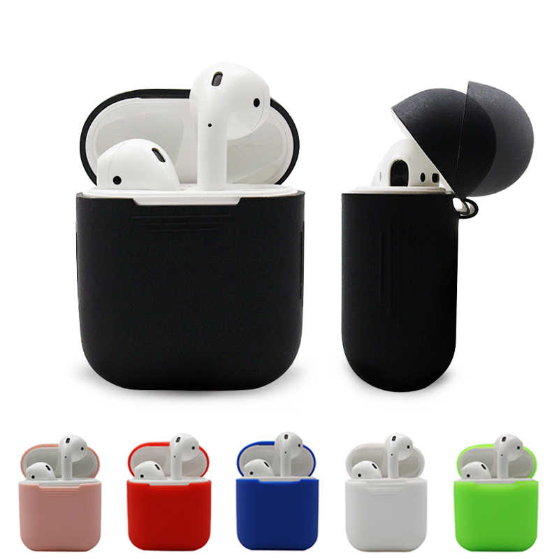 Soft Silicone Bluetooth Wireless Earphone Case For AirPods Protective Cover Skin for Apple Air Pods Accessories