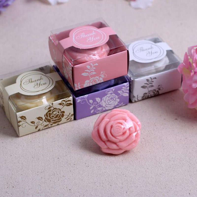 creative rose flower soap in gift box wedding baby shower party favor children kids guest return