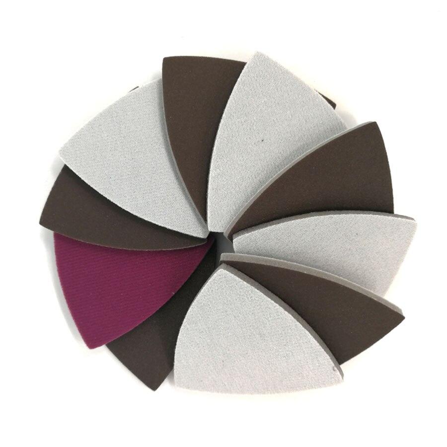 80x80x80mm Triangle Dry Wet Flocking Sponge Sanding Disc Red Sandpaper 300-2000 Grit Abrasive Tools For Polishing Grinding