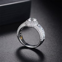 Hot sale Fashion AAA cubic zircnia solitaire wedding ring, round brilliant ,wedding bridal dress accessaries, R34562