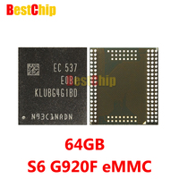 100 Original New KLUBG4G1BD E0B1 For Samsung S6 G920F EMMC 64GB NAND Flash Memory IC Chip