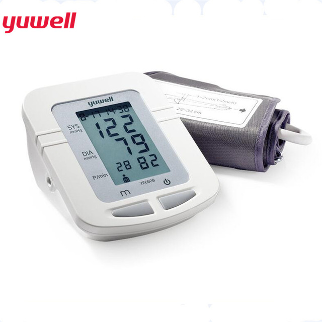 Yuwell Automatic Digital Upper Arm Blood Pressure Monitor Portable Meter Tonometer Sphygmomanometer Home Health Care Tool YE660B