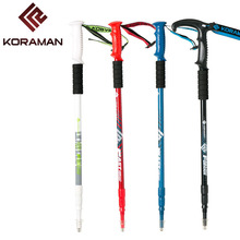 NEW Outdoor aluminum alloy sticks Adjustable telescopic outside lock T handle mountain walking stick Super light old man cane new outdoor aluminum alloy sticks adjustable telescopic outside lock t handle mountain walking stick super light old man cane