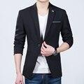 Homens Casaco Blazer Sólida clássico Homem Aranha Preta Um Botão Terno Dos Homens Jaqueta de 2016 Marca de Roupa Feminina Coreano Blazer Masculino