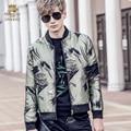 Fanzhuan NEW Frete grátis 2017 moda Popular ocasional magro gola do casaco de manga comprida verde 710022 dos homens masculinos casaco de homem impresso