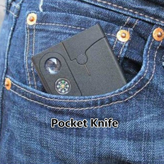 Portable Card Knife Self-defense Tactical Gear Outdoor Camping Hiking Survival Equipment
