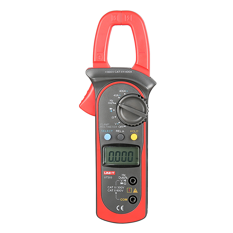 ФОТО UT203 DC/AC Voltage Current Digital Clamp Meter LCD Digital Auto Range Clamp Multimeter with Resistance, Frequency  Measurement