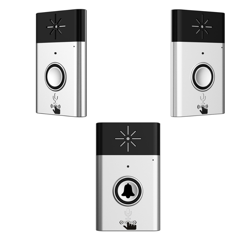 XINSILU New Arrival Digital Wireless Audio Doorbell,home security intercom system doorphone Silver color 1transmitter+2receiver