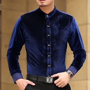 Image 3 - Mu Yuan Yang 2020 sonbahar yeni rahat erkek uzun kollu gömlek ile yüksek kaliteli gömlek Slim Fit uzun kollu erkek gömlek erkek gömlek 50% kapalı büyük boy 3XL