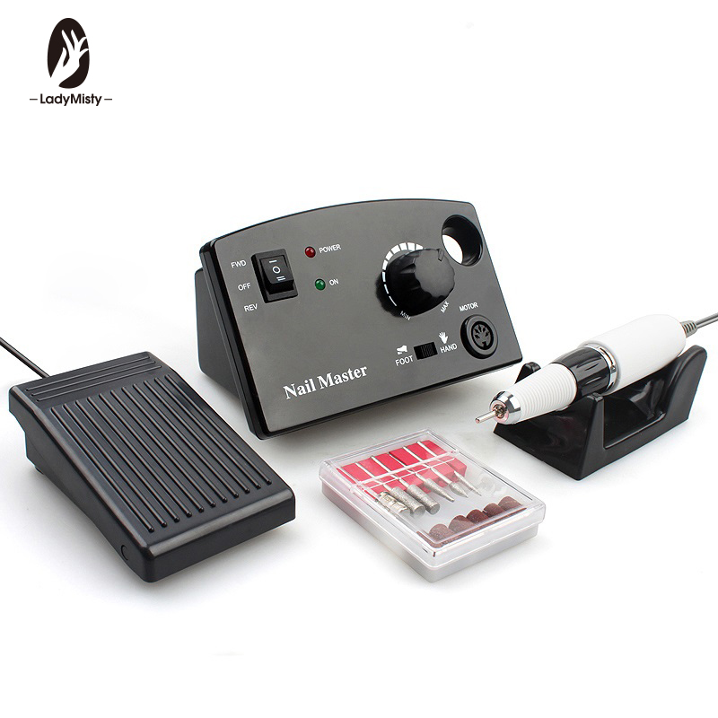 Electric Nail Drill Machine 35000RPM 25W Pro Diamond Nail Cutter Bit ...