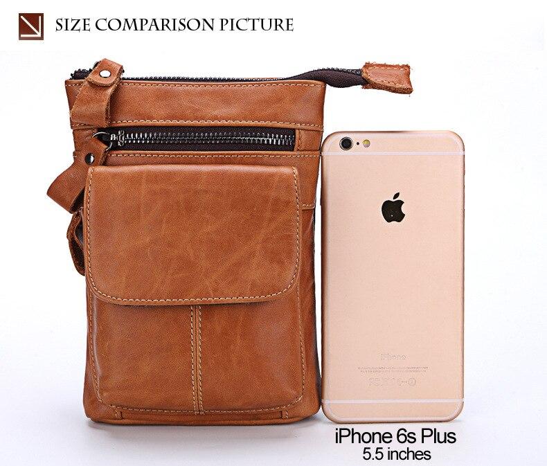 FSSOBOTLUN, pour Blackview P10000 Pro/bV7000/BV6000T étui pour homme ceinture taille portefeuille sac en cuir véritable housse avec bandoulière - 5