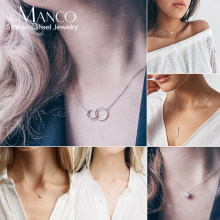 initial pendant custom name letter stainless steel necklace women statement nameplate personalized layered choker necklace(China)