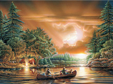 5D DIY Diamond Painting boat Scenery Cross Stitch 3D  landscape diamond Embroidery rhinestones Christmas gift