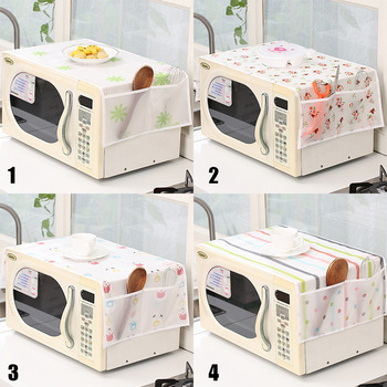 Microwave Oven Dust Cover Plastic Flower Waterproof