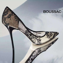 Boussac Elegant High Heels Women Pumps Transparent Flower La