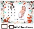 Мягкое шерстяное одеяло подарок для душа Новорожденный ребенок ежемесячный рост одеяло-Ростомер Фотография реквизит фон