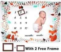 2020 velo macio cobertor do bebê chuveiro presente do bebê recém nascido crescimento mensal marco cobertor fotografia adereços fundo|Cobertores e mantas| |  -