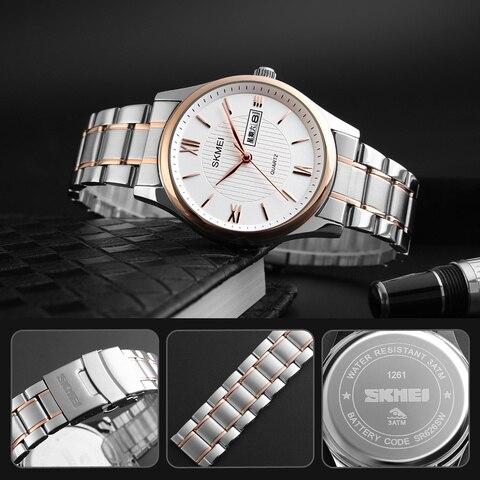 2019 Fashion Men Business Wrist Watch Golden Mens Watches Top Brand Luxury SKMEI Men Quartz Watch Male Watches Relogio Masculino Multan