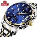 OLMECA montres de luxe hommes mode décontracté charme lumineux Sport relogio masculino étanche 30m or bleu acier inoxydable