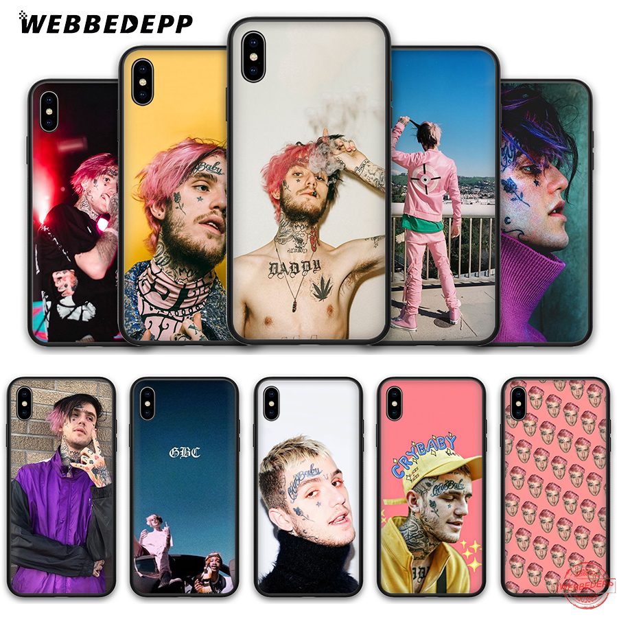 WEBBEDEPP <font><b>Lil</b></font> <font><b>Peep</b></font> Soft Silicone <font><b>Case</b></font> for <font><b>iPhone</b></font> <font><b>8</b></font> 7 6S 6 Plus 11 Pro XS Max XR X 5 5S SE Back Shell image