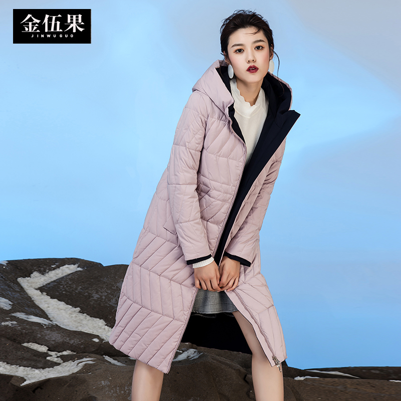 2017 new hot winter Thicker warm woman Down jacket Parkas Coat long Slim Hooded Loose Both sides wear plus size 2XXL cold