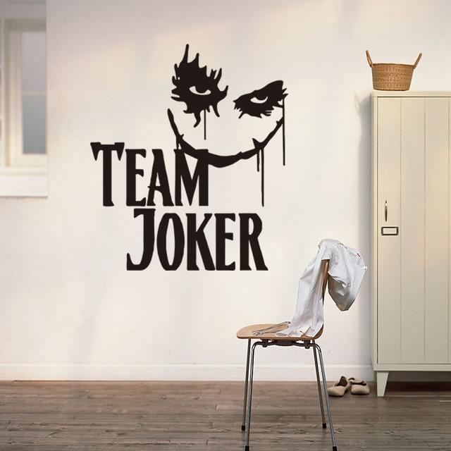 New Team Joker Wall Sticker for Bedroom Decal Decoration Children ...