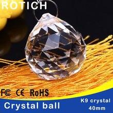 5 шт/лот 40 мм стеклянные кристаллы для люстр граненый подвесной