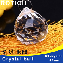 5pcs/lot 40mm Glass crystals for chandeliers faceted hanging ball crystal drops chandelier parts home decoration