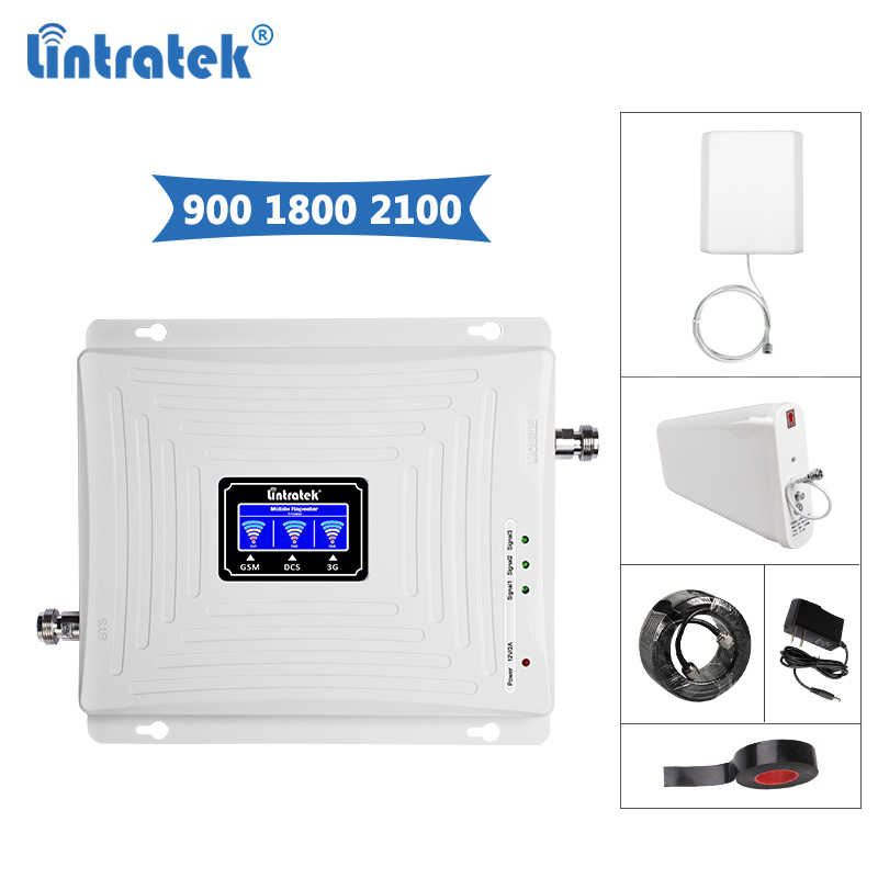 91b82f6a93443c ... Lintratek Signal Repeater 2G 3G 4G GSM 900/DCS LTE 1800/WCDMA UMTS  2100MHz