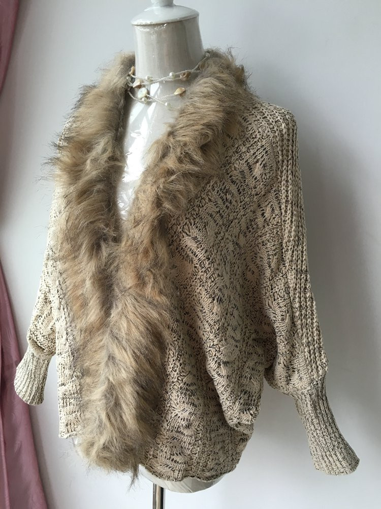 lady spring autumn sweater with fur (3)